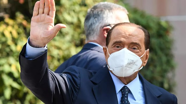 Italy's Silvio Berlusconi hospitalised overnight after a fall
