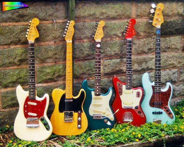 Fender guitar lineup