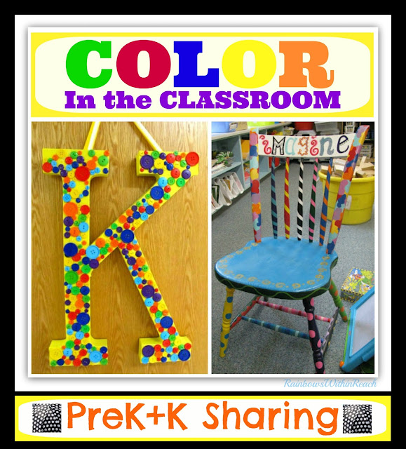 "photo of: Color in the Classroom: Teacher DIY Inspiration at ""PreK+K Sharing"""