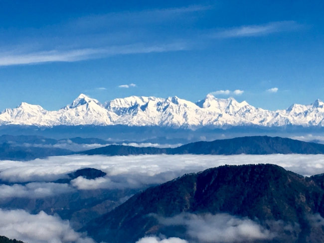 Snow capped Himalayan Peaks