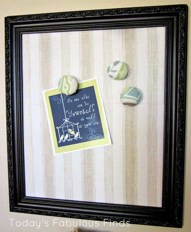 Today S Fabulous Finds Fabric Covered Magnet Board And