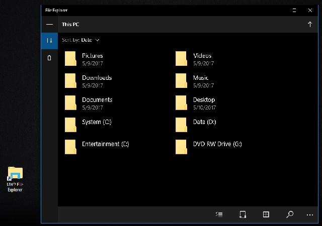File Explorer baru yang tersembunyi di Windows 10 Creators Update