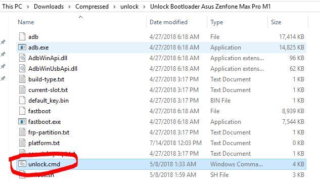 Unlock Bootloader Asus Zenfone Max Pro M1