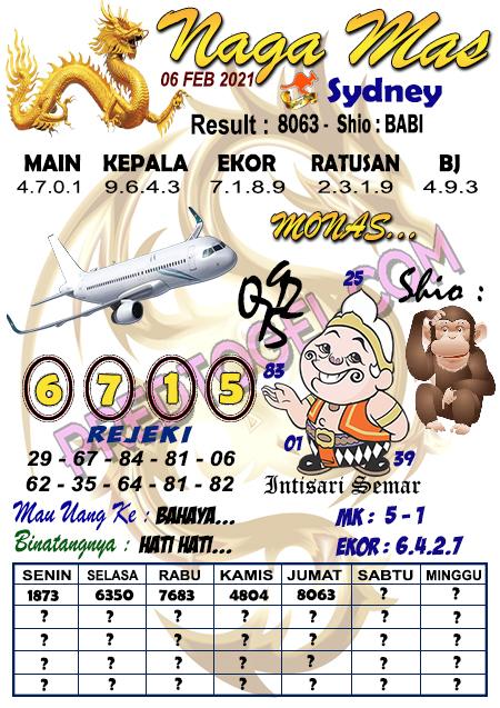 Syair Nagamas Sdy Sabtu 06 Februari 2021