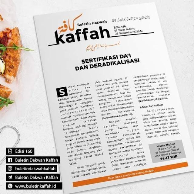 Buletin Kaffah No. 160 (07 Safar 1442 H/25 September 2020 M)