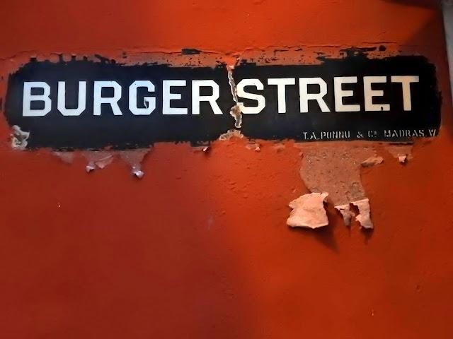 Spelt correctly it would be Burgher Street | Kochi (Kerala) June 2016