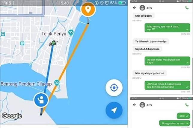 Viral Chat Driver Ojek Online Dapat Order dari Napi Nusakambangan, Ini Penjelasan Kalapas