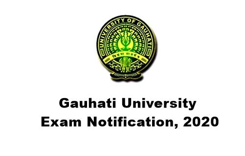 Gauhati University Realesed Exam Notification, 2020