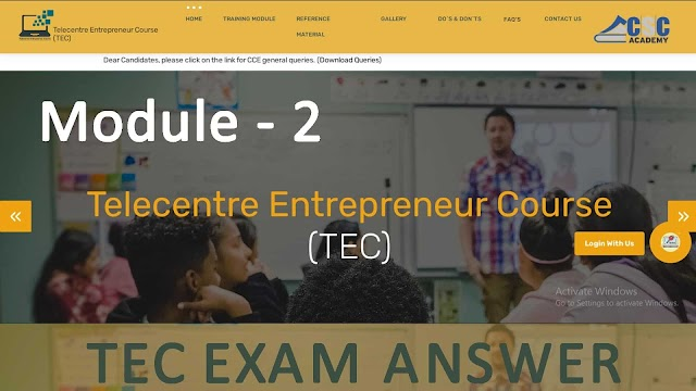 Entrepreneurship and Entrepreneurial Character Answer Key 2021 | TEC Exam Final Answer Key