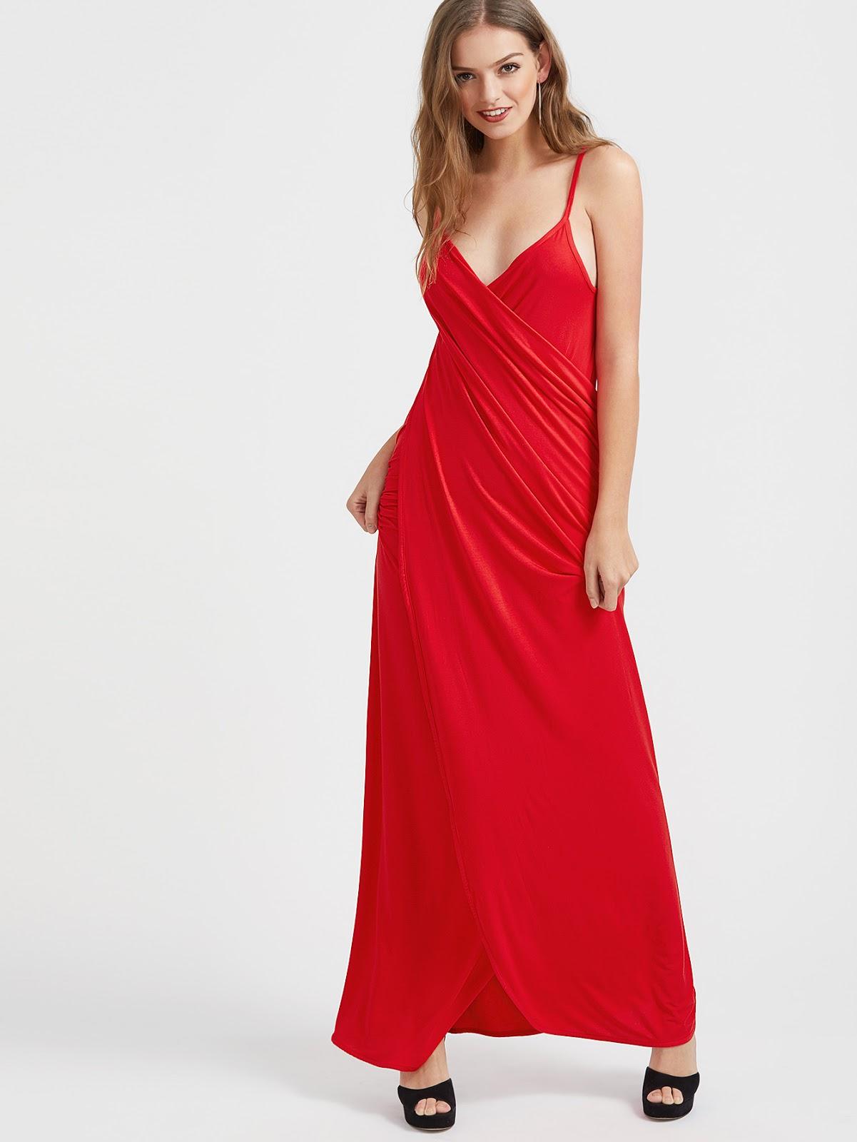 Vestido rojo largo casual