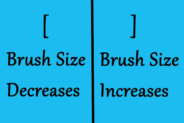 Increase and Decrease the Brush Size