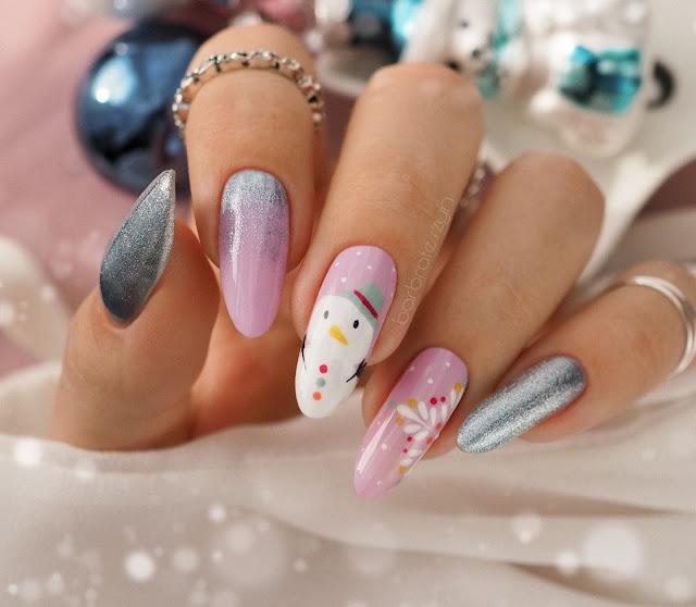 paznokcie w bałwanki
