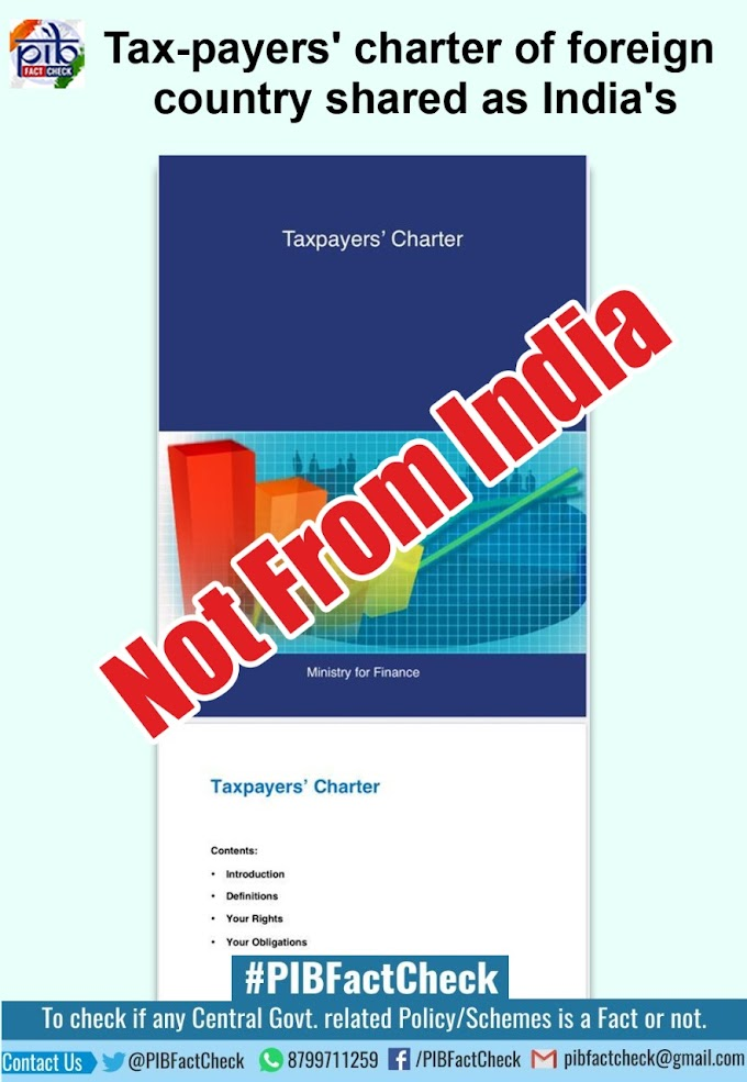 Fake TaxPayers' Charter of India Circulating on Social Media