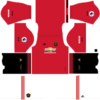 Manchester United FC 2019 - 2020 DLS/FTS Dream League Soccer Kits and Logo