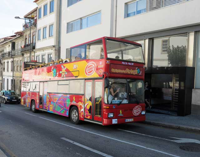 A double-decker tour bus is a great way to see the city.