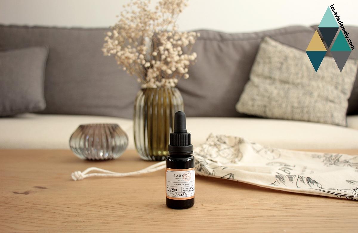 avis et test soin naturel laboté huile de nuit sur mesure