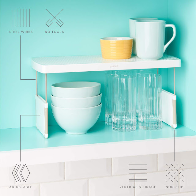 storage idea for small kitchens expandable shelving unit