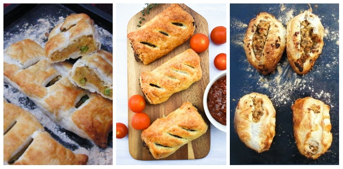 Sausages rolls and savoury pastries