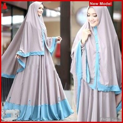 FHGS9183 Model Syari Layla Abu, Perempuan Baju Muslim Jersey BMG