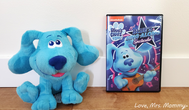 Blue's Clues & You! Blue's Sing-Along Spectacular DVD, blues clues, music tv show, tv show for kids, preschool tv shows, nickelodeon, nickelodeon tv shows, preschool learning shows