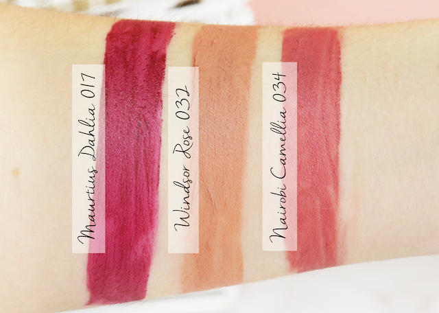 The Body Shop x House of Holland Matte Lip Liquids Swatches