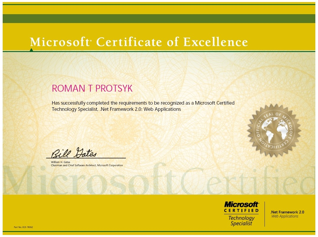 Examples Of Best Certificate Microsoft Certification Tr71
