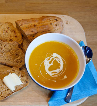 carrot and sqaush soup