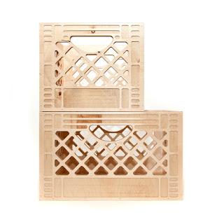 wooden milk cartons from WAAMI Industries