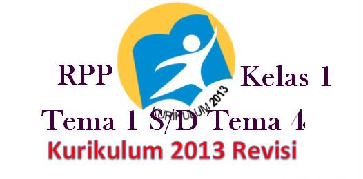 Download RPP K13 Edisi Terbaru Kelas 1 Tema 1 Sampai Tema 4