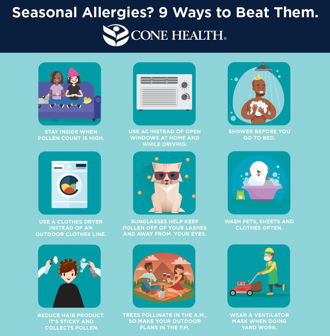 Seasonal Allergies? 9 Ways to Beat Them #infographic #Health #Seasonal Allergies #Allergies