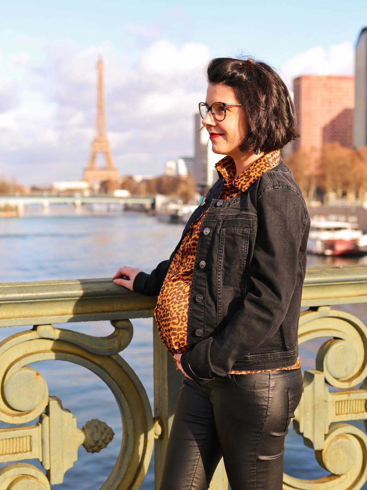 comment porter chemise léopard enceinte lookiero avis box abonnement jean enduit grossesse look ootd les gommettes de melo