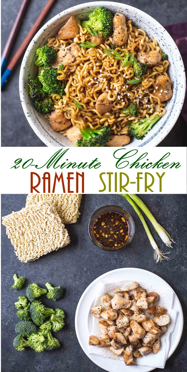 20-Minute Chicken Ramen Stir-Fry #Dinnerrecipes