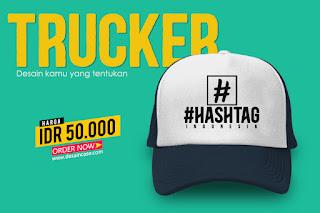 Download Mockup Custom Topi Trucker