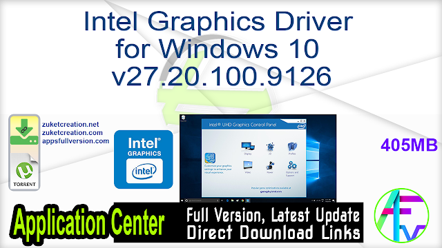 Intel Graphics Driver for Windows 10 v27.20.100.9126