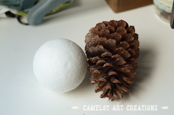 faux cotton boll ball