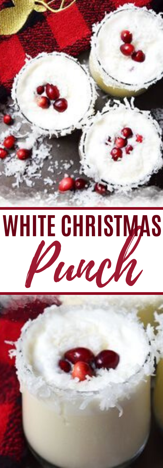 White Christmas Punch #drinks #recipe #nonalcoholic #punch #holiday