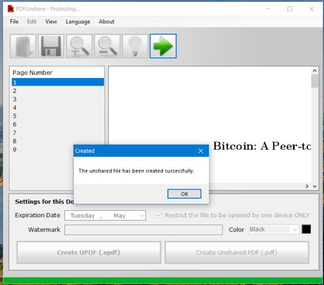 PDF unshare
