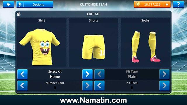 Skin Dream League Soccer Spongebob