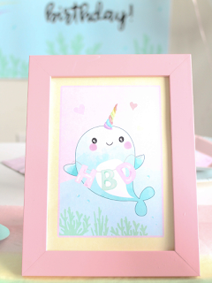 narwhal birthday free printables