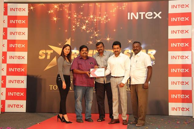 Intex Celebrates Success with Partners & Suriya in Chennai