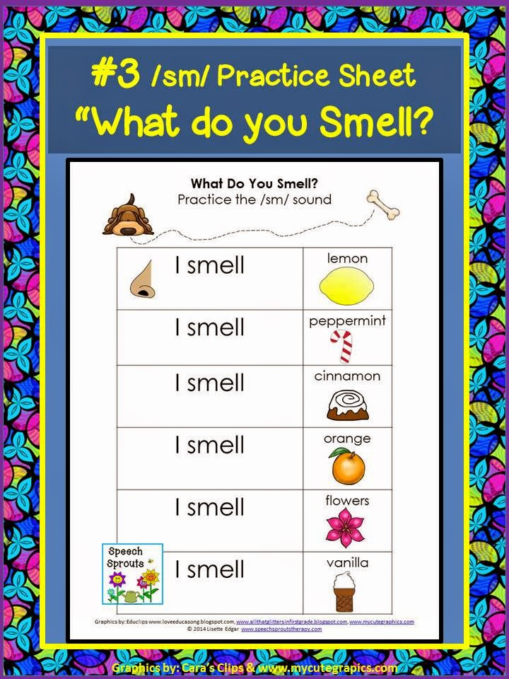 Free sense of smell activity for initial s-blends