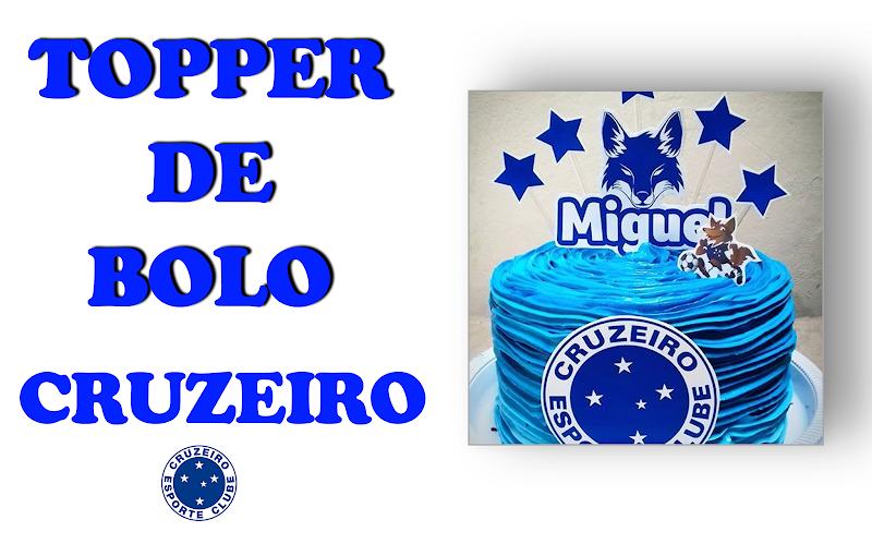 TOPPER DE BOLO TIME CRUZEIRO
