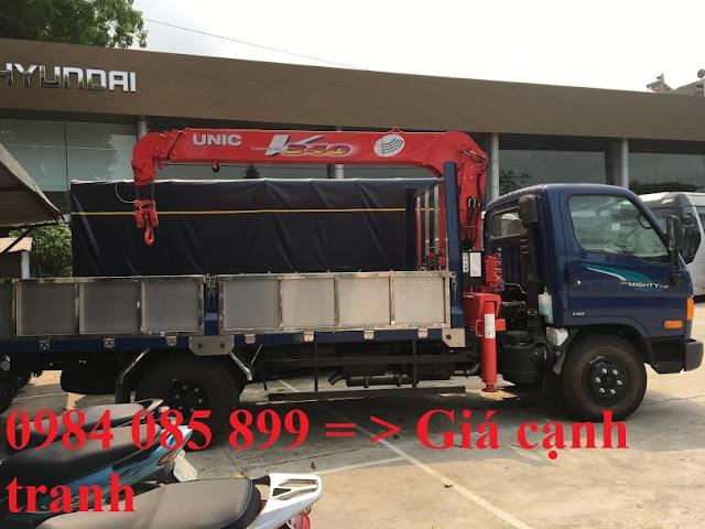 Hyundai 110XL gắn cẩu thùng dài 5m8