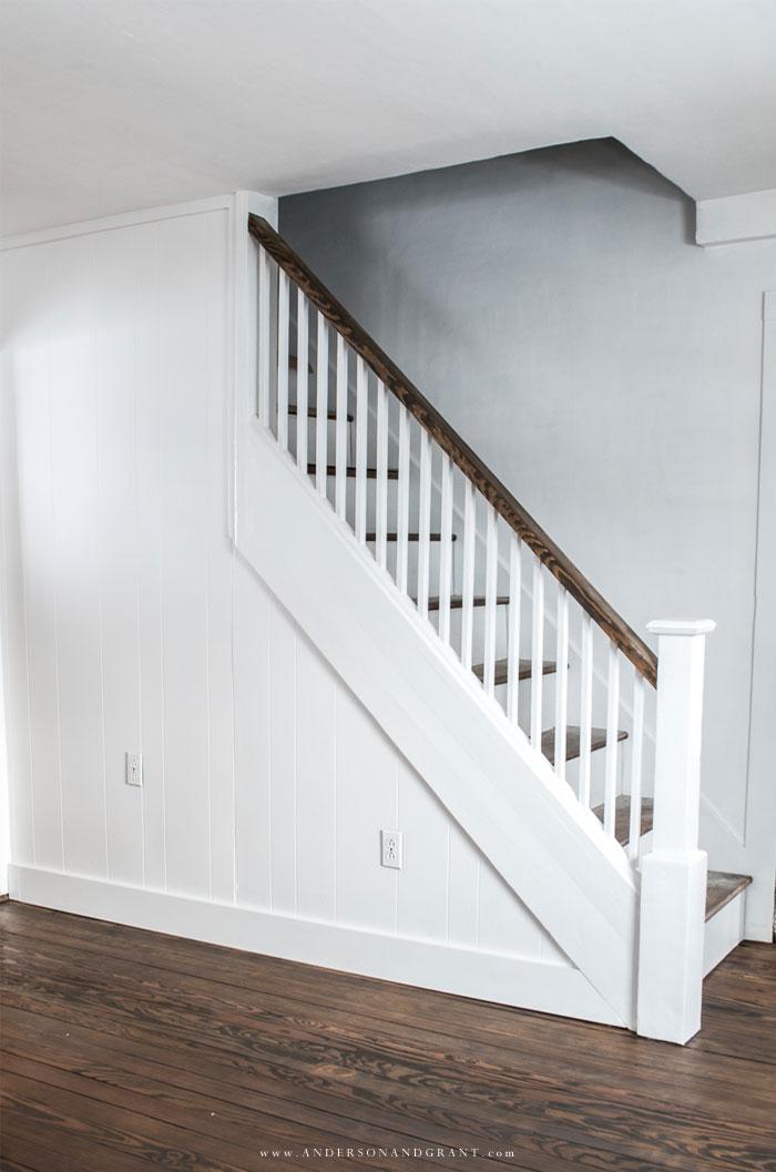 White painted stairway