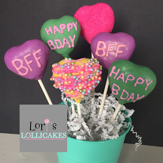 Sweet Little Brightly Colored Heart Cake Pops For Life Long Besties Who Happen To Also Have A Birthday One Day Part