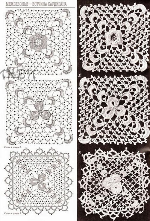wzory szydelkowe z pikotkami