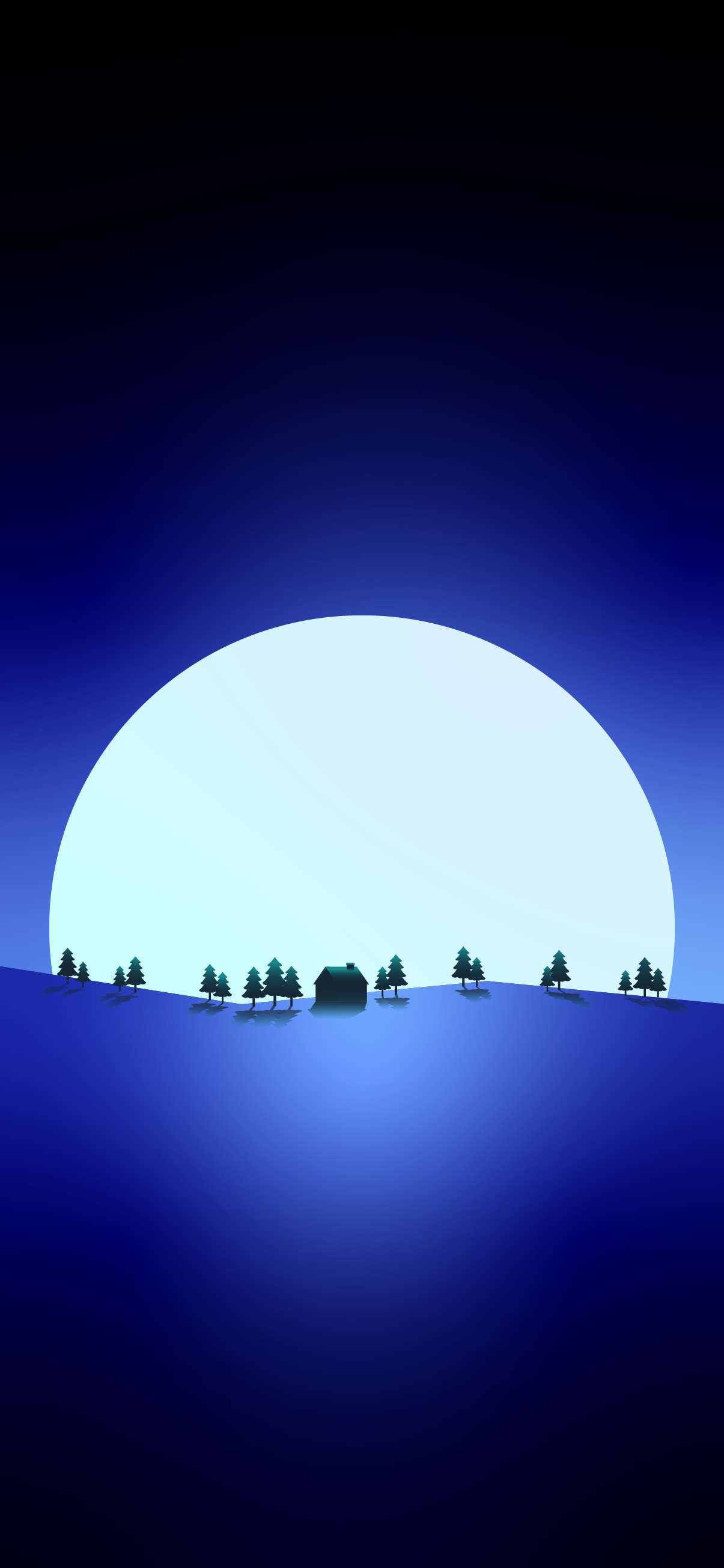beautiful moon landscape iphone wallpaper 4k