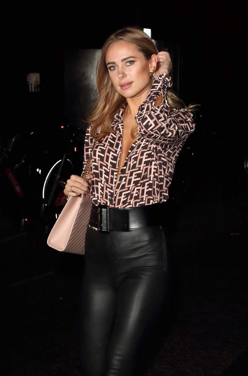 Lovely Ladies In Leather Kimberley Garner In Leather Pants
