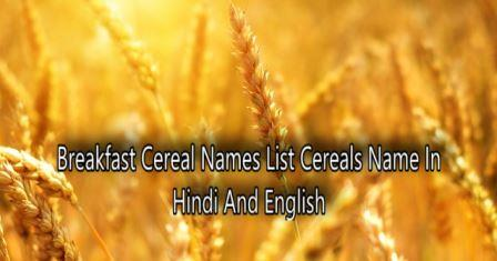 Breakfast Cereal Names List Cereals Name In Hindi And English