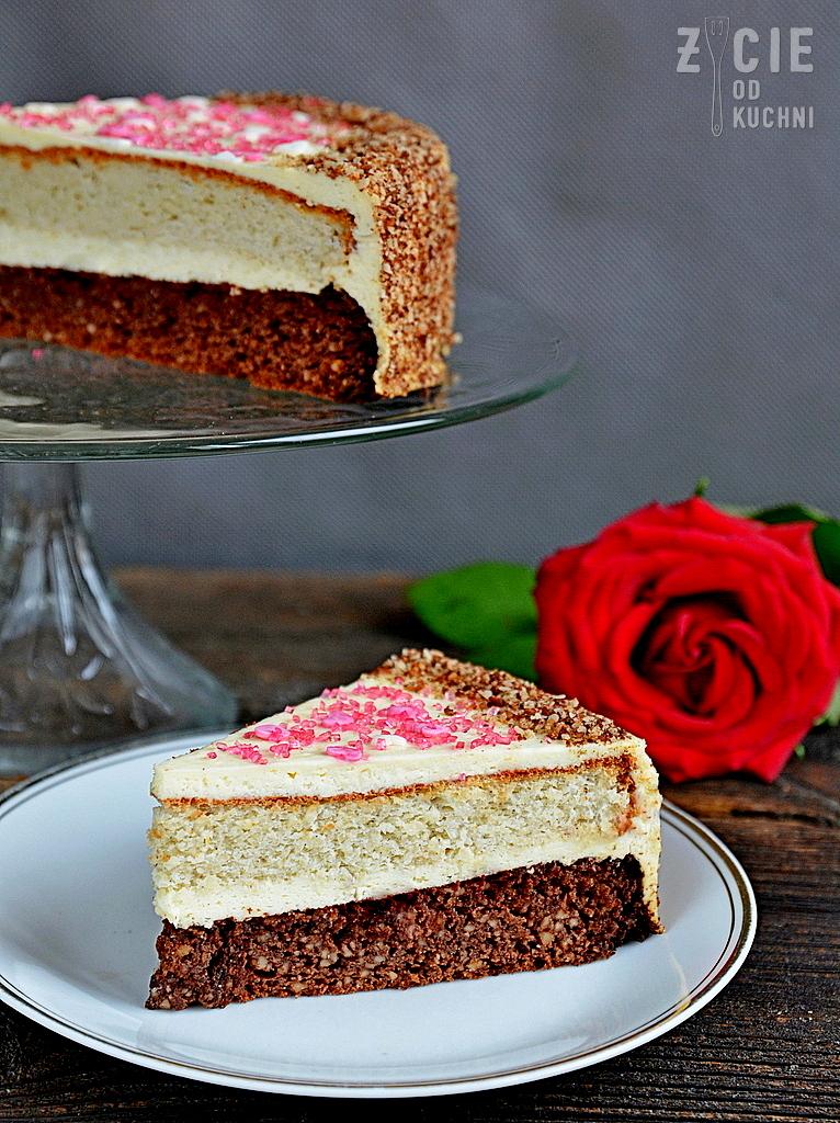 tort urodzinowy, tort bezglutenowy, tort orzechowy, tort migdalowy, ciasto bezglutenowe, zycie od kuchni